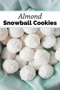 Pinnable image 3 for snowball cookies.