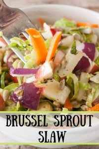 Brussel Sprout Slaw Pinnable image.