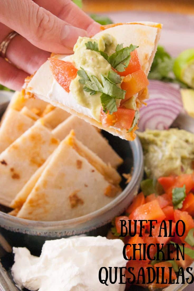 Buffalo Chicken Quesadillas Pin3