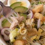 Pinnable image 2 caesar salad.