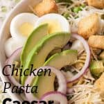 Pinnable image 5 for caesar salad.