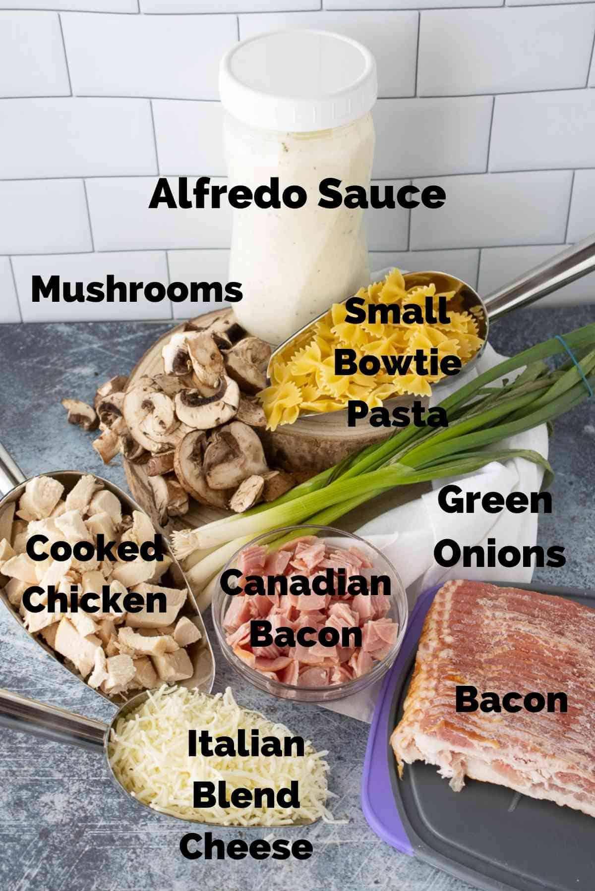 ingredients for chicken cordon bleu casserole