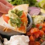 Facebook image for chicken quesadillas.