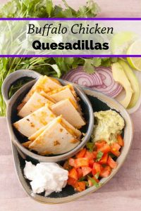 Pinnable image 3 for chicken quesadillas.