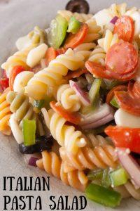 Italian pasta pinnable image.