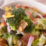 Tangy Broccoli Salad facebook image.