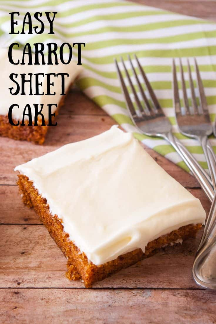 Carrot sheet cake pinnable image 3