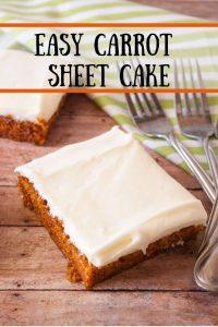 Carrot Sheet Cake pinnable image 1