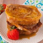 Facebook image for cinnamon swirl french toast.