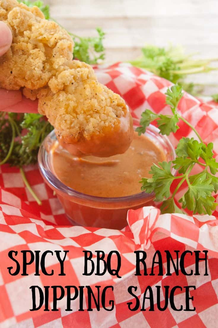 Spicy BBQ Ranch Dipping Sauce pin