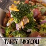 Tangy Broccoli Salad pinnable image 1.