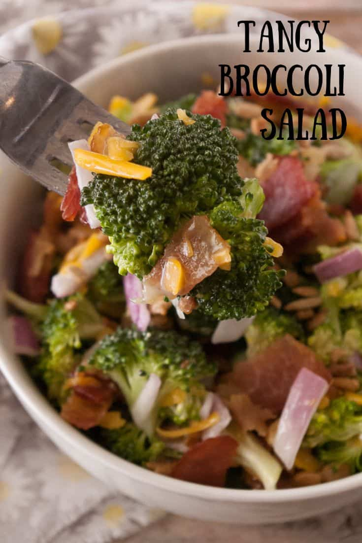 Tangy Broccoli Salad pin3.
