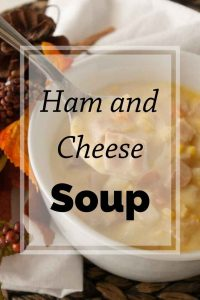 Pinnable image 5 for ham and cheese soup.