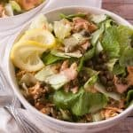 Salmon Piccata Salad facebook image.
