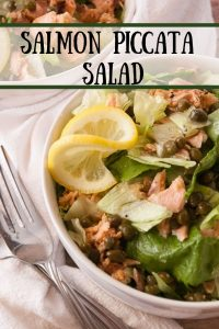 Salmon Piccata Salad pin1