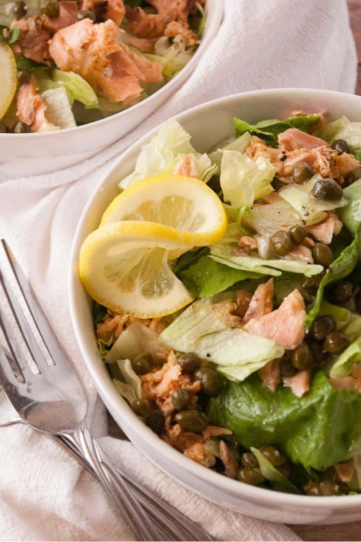Salmon Piccata Salad pin2