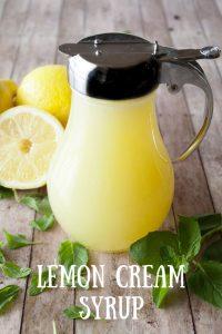 Pinnable image for lemon cream syrup.