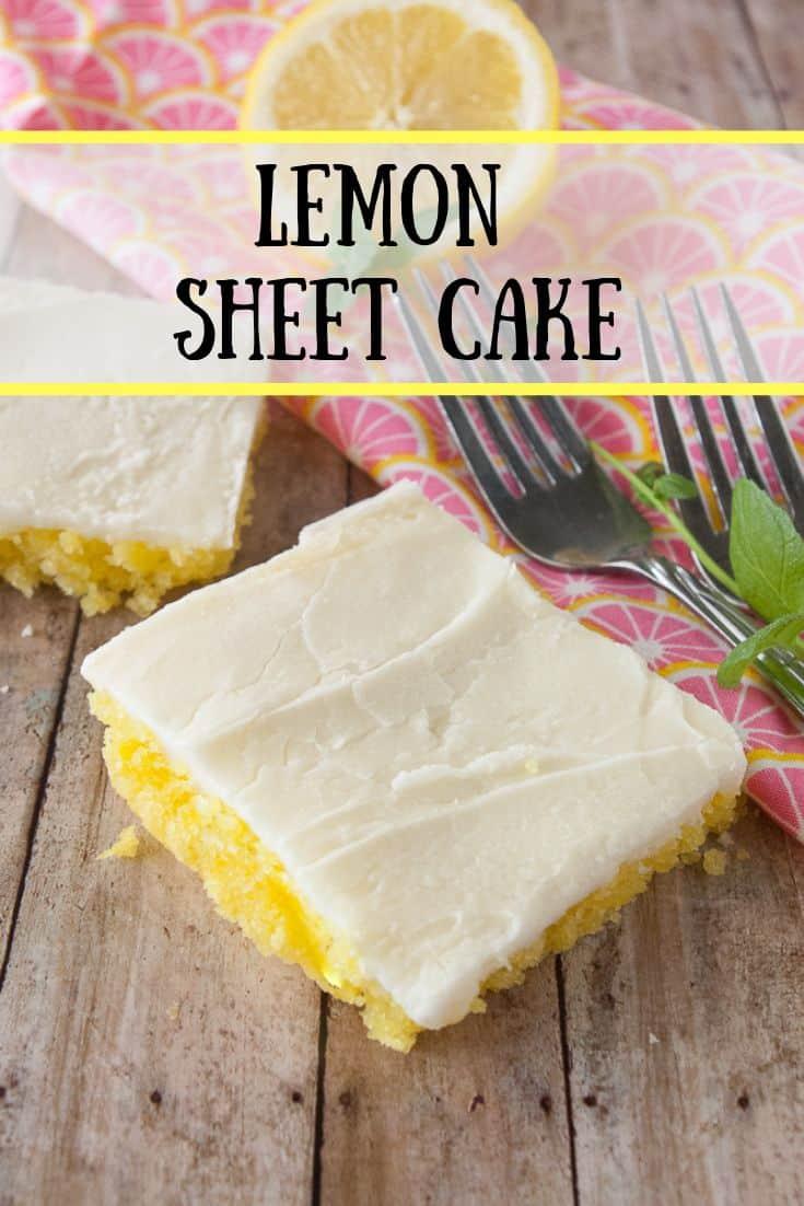 Pinnable image 1 for lemon sheet cake