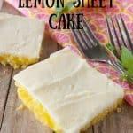 Pinnable image 3 for lemon sheet cake.