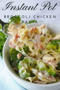 Pinnable image 4 for instant pot broc chicken pasta
