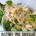 Pinnable image 1 for instant pot broc chicken pasta