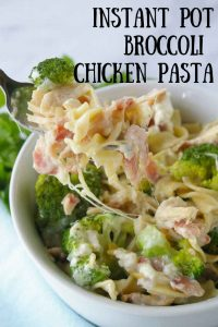 Pinnable image 3 for instant pot broc pasta chicken
