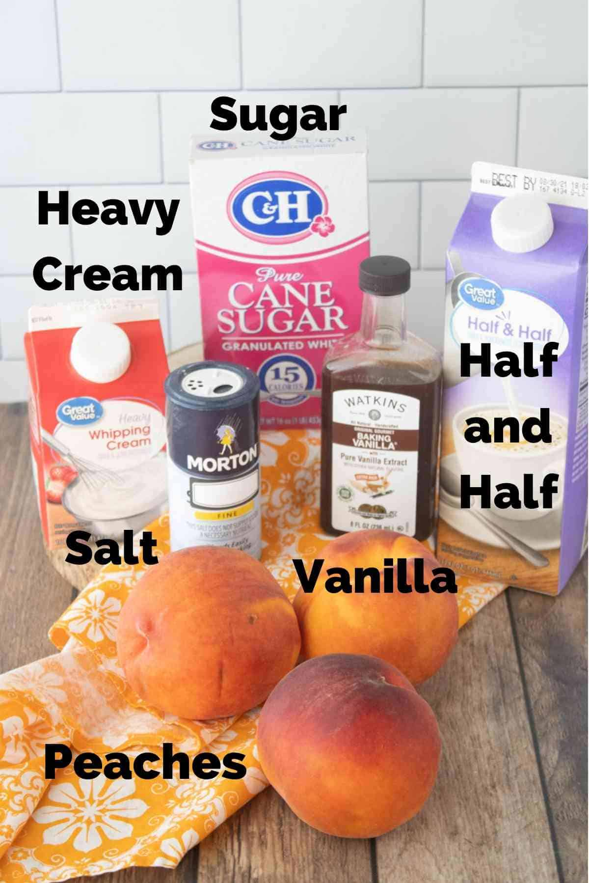 Just six ingredients for this homemade ice cream!