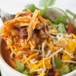 Facebook image for chicken chili.