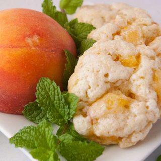 Facebook image for peach scones.