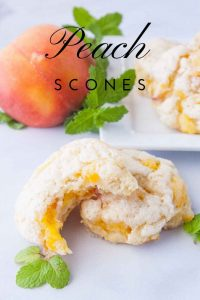 Pinnable image 2 for peach scones.