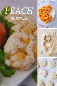 Pinnable image 4 for peach scones.