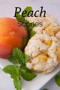 Pinnable image 6 for peach scones.