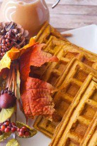 Pinnable image 6 for pumpkin waffles.