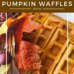 Pinnable image 5 for pumpkin waffles.