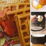 Pinnable image 4 for pumpkin waffles.