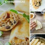 Pinnable image 4 for chicken chimichangas.