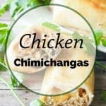 Pinnable image 5 for chicken chimichangas.