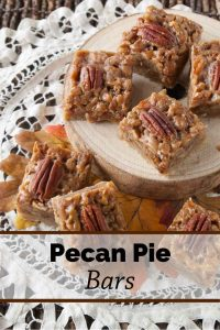 Pinnable image 3 for pecan pie bars.