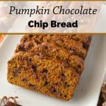 Pinnable image 1 for pumpkin bread.