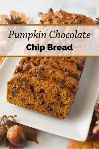 Pinnable image 1 for pumpkin bread.