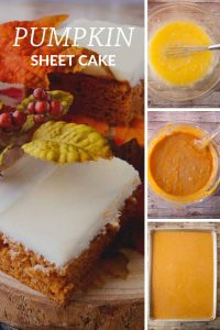 Pinnable image 4 for pumpkin sheet cake.