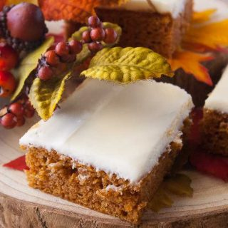 Facebook image for pumpkin sheet cake.