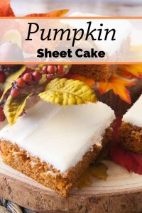 Pinnable image 3 for pumpkin sheet cake.