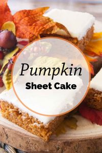Pinnable image 5 for pumpkin sheet cake.