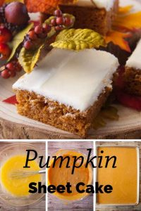 Pinnable image 6 for pumpkin sheet cake.