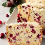 Pinnable image 2 for cranberry poppy seed bread.