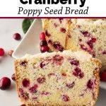 Pinnable image 3 for cranberry bread.