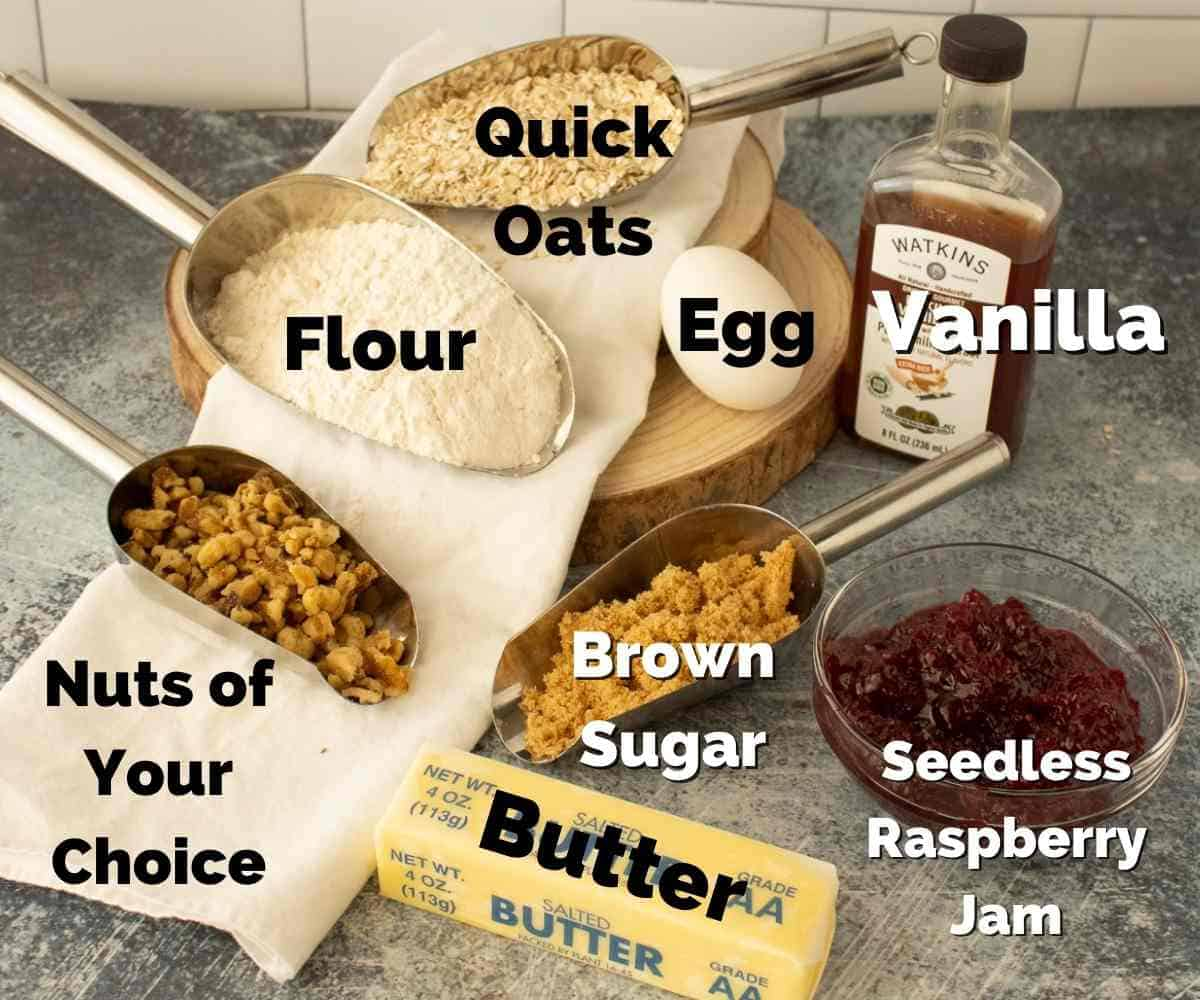 A picture of the ingredients used in this recipe.