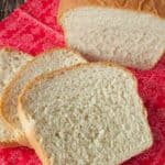 Slices of fresh white bread
