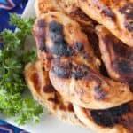 Grilled marinated chicken.